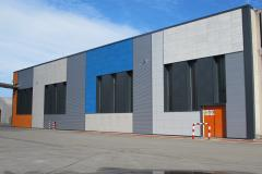 SI VIP production hall - Colourful Facades 1