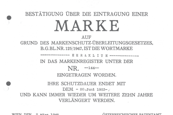 1923 First trademark registration